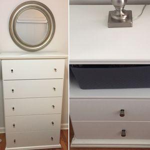 White Bedroom Set: 1 Dresser & 2 Nightstands for Sale in Washington, DC