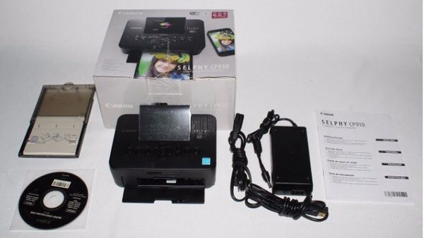 Canon Selphy Cp910 Compact Photo Printer In Black For Sale In