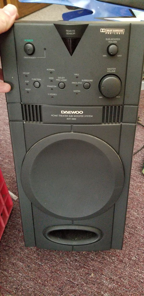 Daewoo Subwoofer /reciever 5 to 1 (Audio Equipt) in Dudley, MA ...