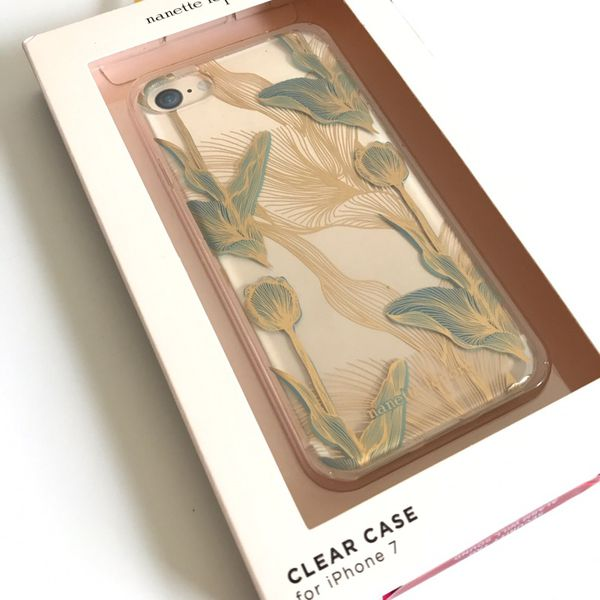 best service af189 9b821 Nanette Lepore Flex-Fit Clear Protective Case for iPhone 7 - Floral  Green/Gold for Sale in San Jose, CA - OfferUp