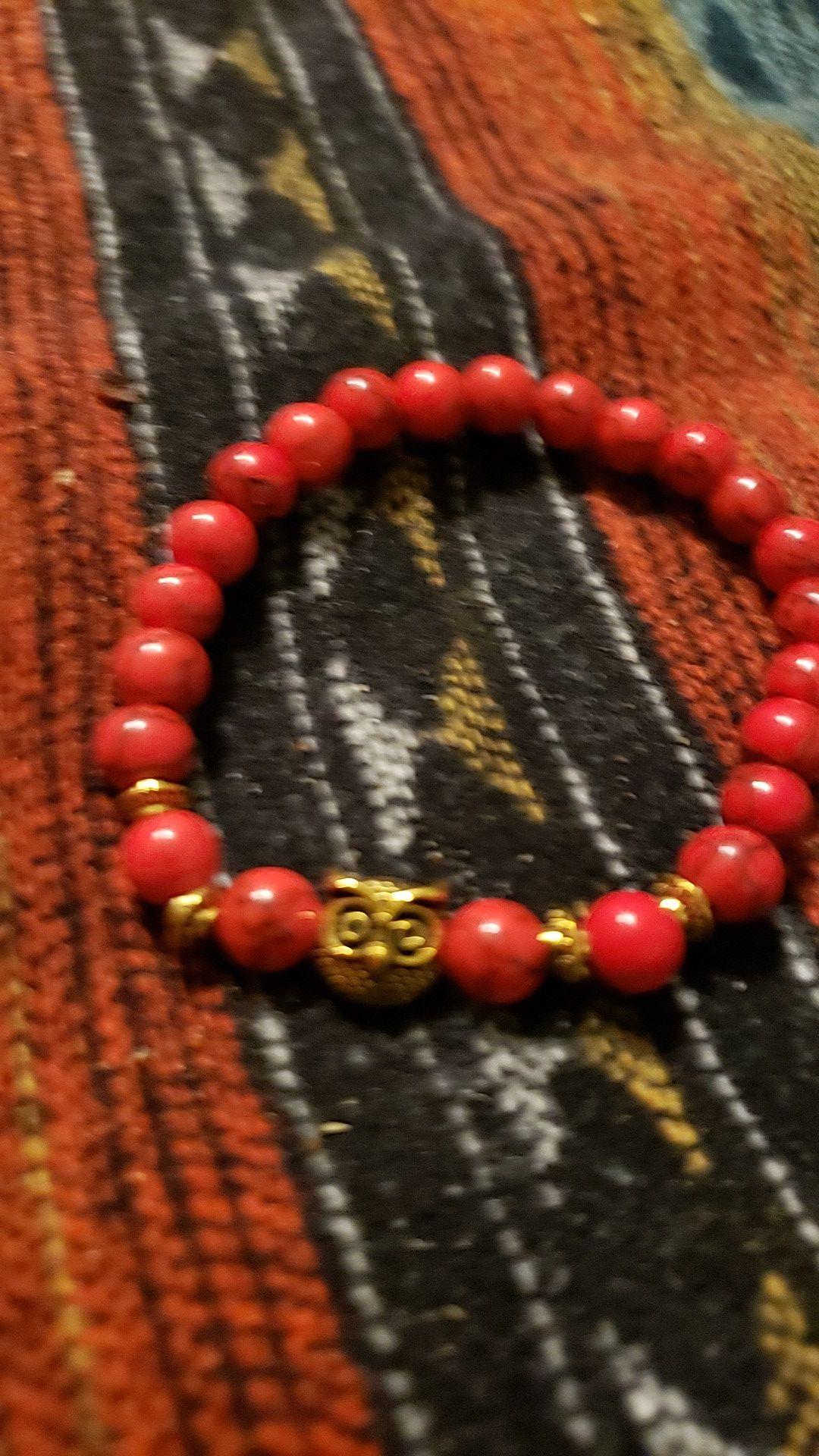 real stones unisex bracelet