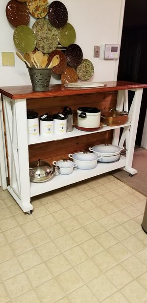 Tall kitchen island on wheels for Sale in Bakersfield, CA