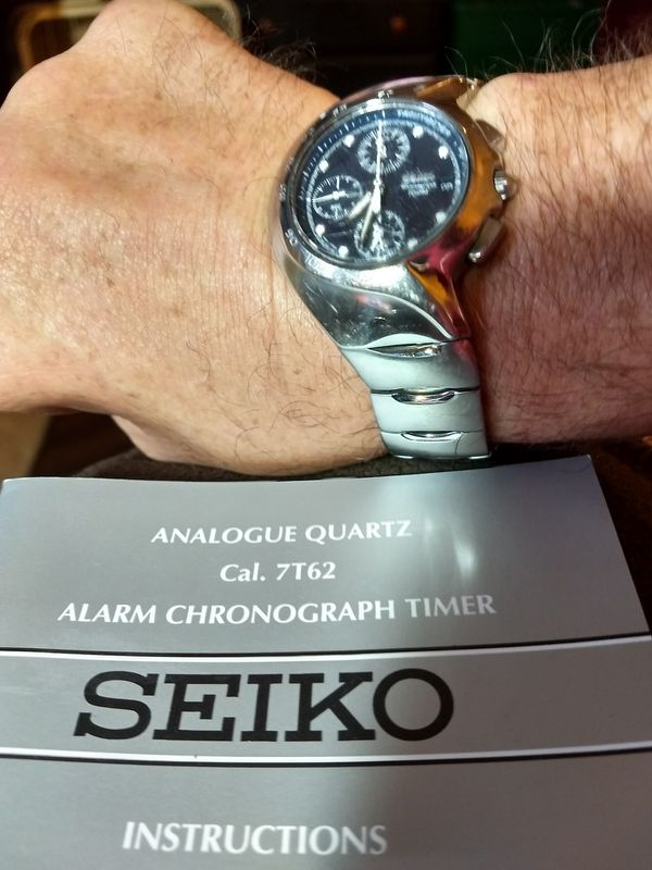 Mens Authentic Seiko Chronograph Watch Jewelry Accessories In