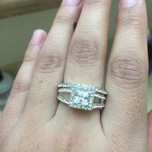 Sterling silver plated wedding ring ring band for Sale in Silver Spring, MD
