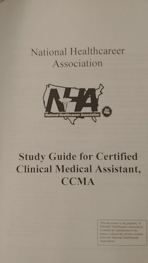 Study Guide/ Key for National certification- Medical Asst. for Sale in Washington, DC
