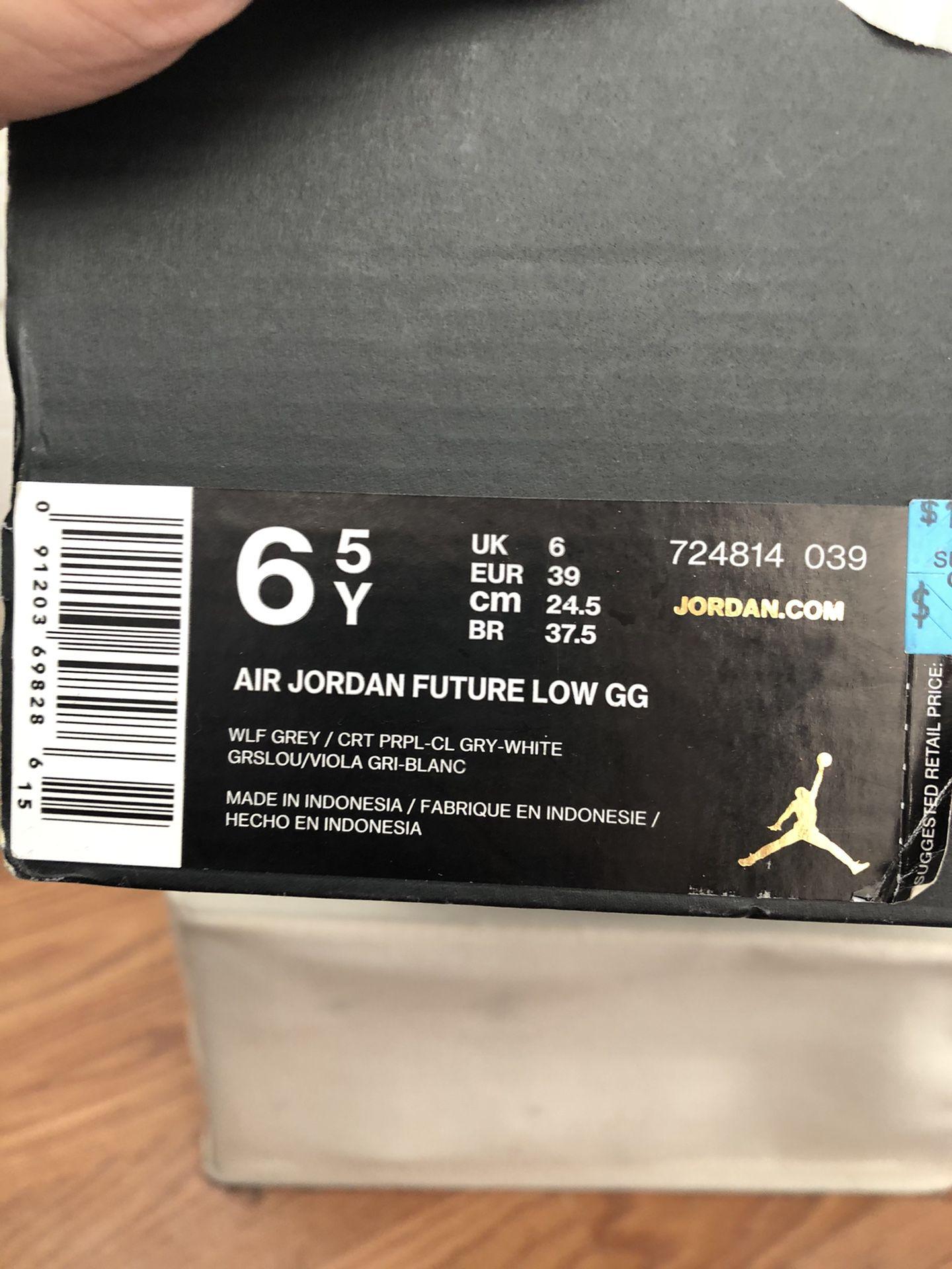 Air Jordan Future Low GG Size 6.5y