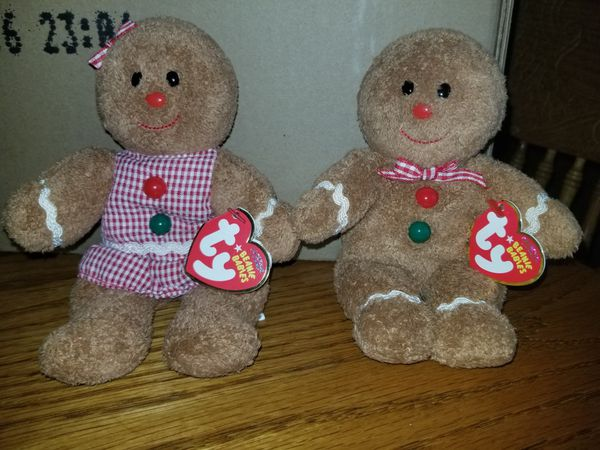 880acbeaaf9 Gingerbread Girl and Boy set TY Beanie Babies 2007 for Sale in Orange Park