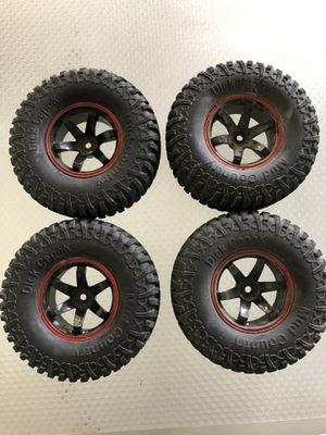 Photo 2019 4Pcs AUSTAR AX-3020C 1.9 Inch 103mm 1/10 Scale Tires with Wheel Rim for 1/10 D90 SCX10 CC01 RC Rock Crawler Part