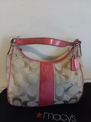 Pink and Brown Coach purse Genuine for Sale in Chillum, MD