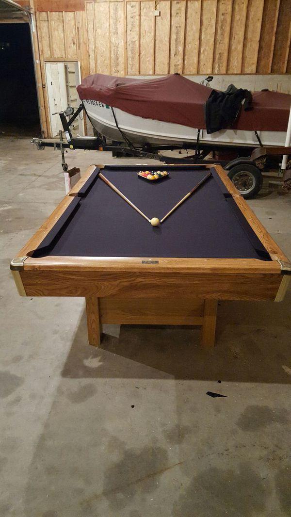 Ft Brunswick Buckingham Pool Table Set Up Available For Sale In - 8ft brunswick pool table
