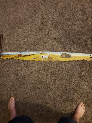 4ft two man saw hand painted for Sale in Tacoma, WA