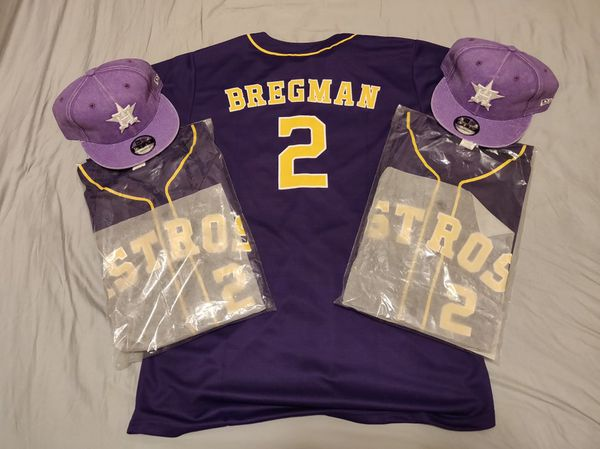 huge selection of 6a440 8d7e4 **HOUSTON ASTROS ALEX BREGMAN PURPLE LSU JERSEY!!** for Sale in Houston, TX  - OfferUp
