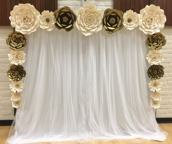 Paper Flower Backdrop Rental Wedding Communion Birthday For Sale In