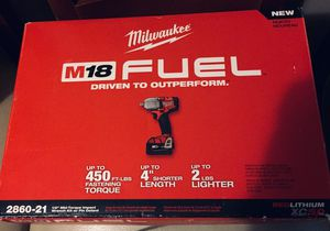 "New! Milwaukee ""Fuel"" M18 high torque impact wrench/driver for Sale in Grove City, OH"