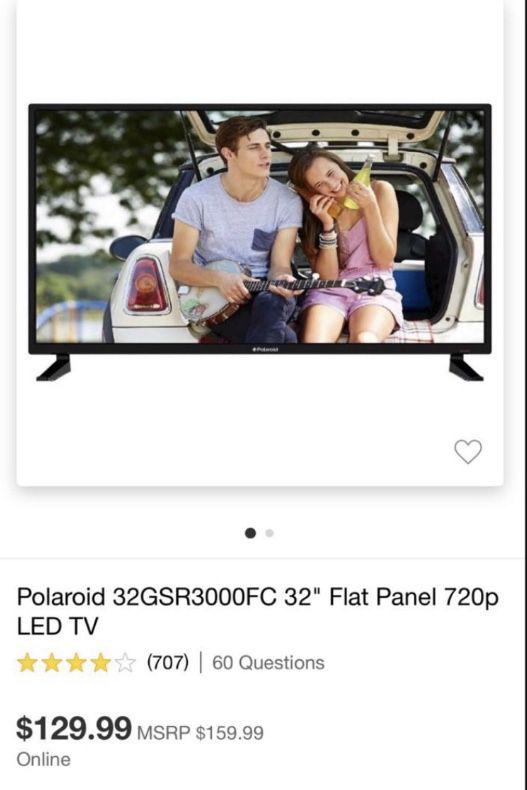 Polaroid Tv with Remote
