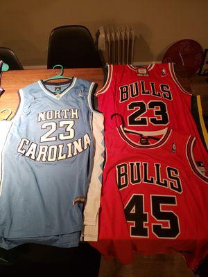 Michael Jordan Bulls and North Carolina Jersey for Sale in Salt Lake City, UT