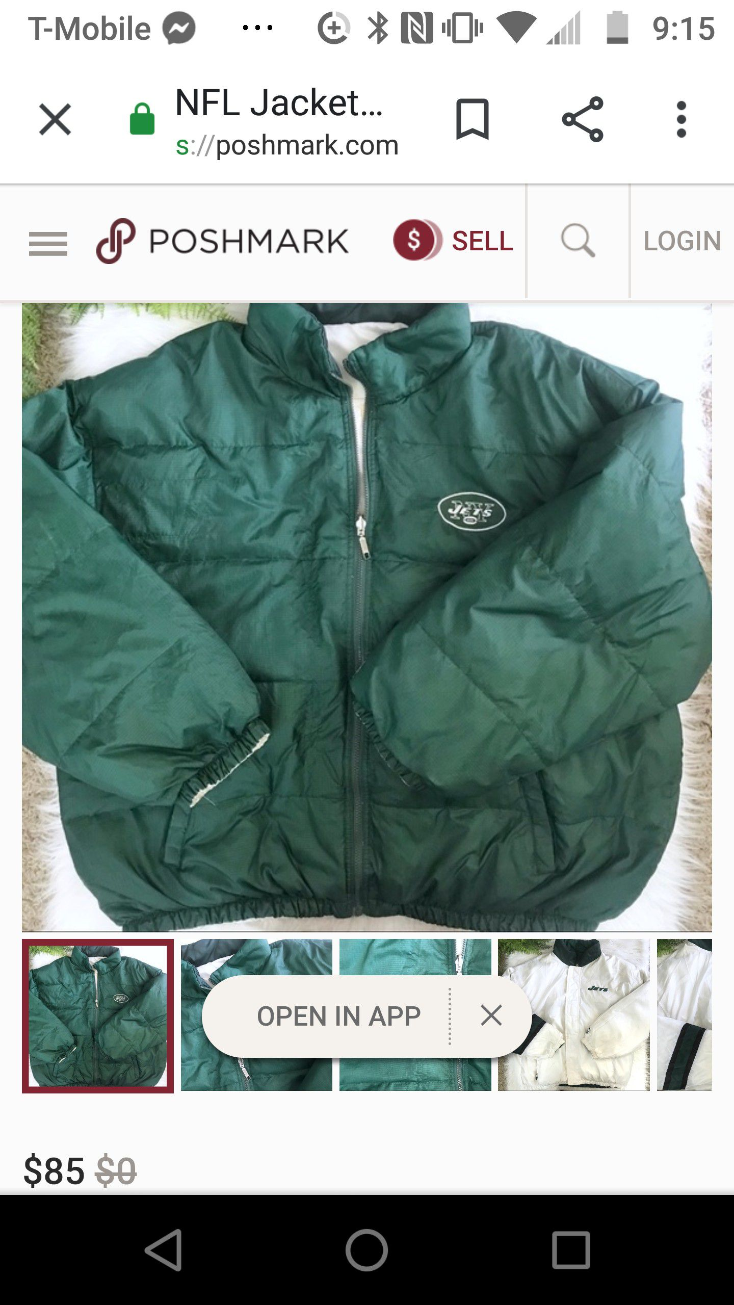 Old school jets jacket double sided
