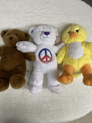 Photo Vintage Like New Build-A-Bear Plush. $30 for the trio