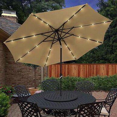 New In Box 10 Feet Tilt Crank Outdoor Tilt Crank Patio Umbrella With