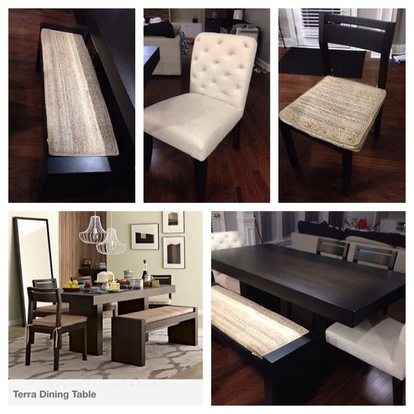 West Elm Terra Dining Table Chairs Bench For Sale In Woodstock GA - West elm terra dining table