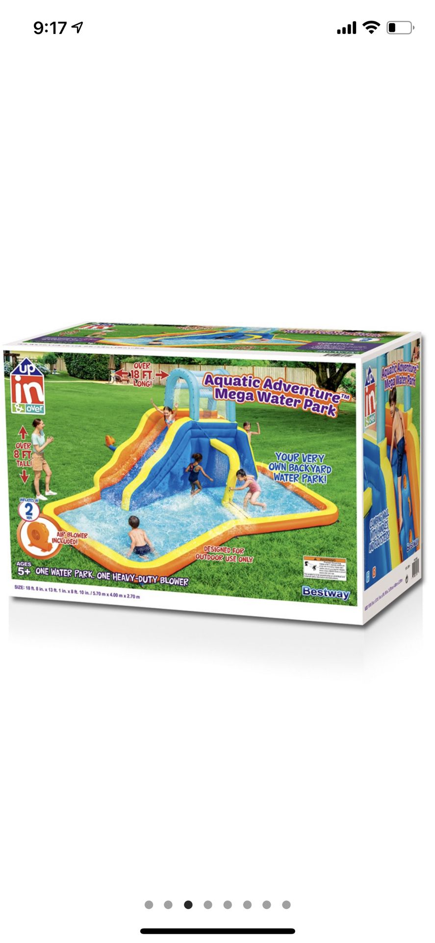 Photo Fresno Pick Up The Aquatic Adventure Mega Water Park is the ideal backyard play experience. This inflatable