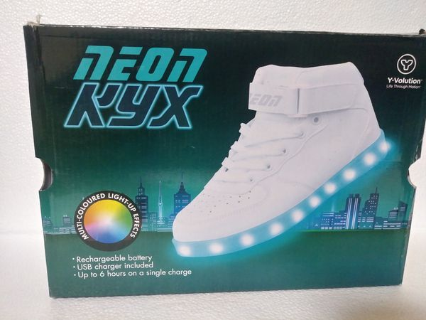 eb3fa430 Led neon kyx shoes white size 7m / 9w us for Sale in San Diego, CA ...