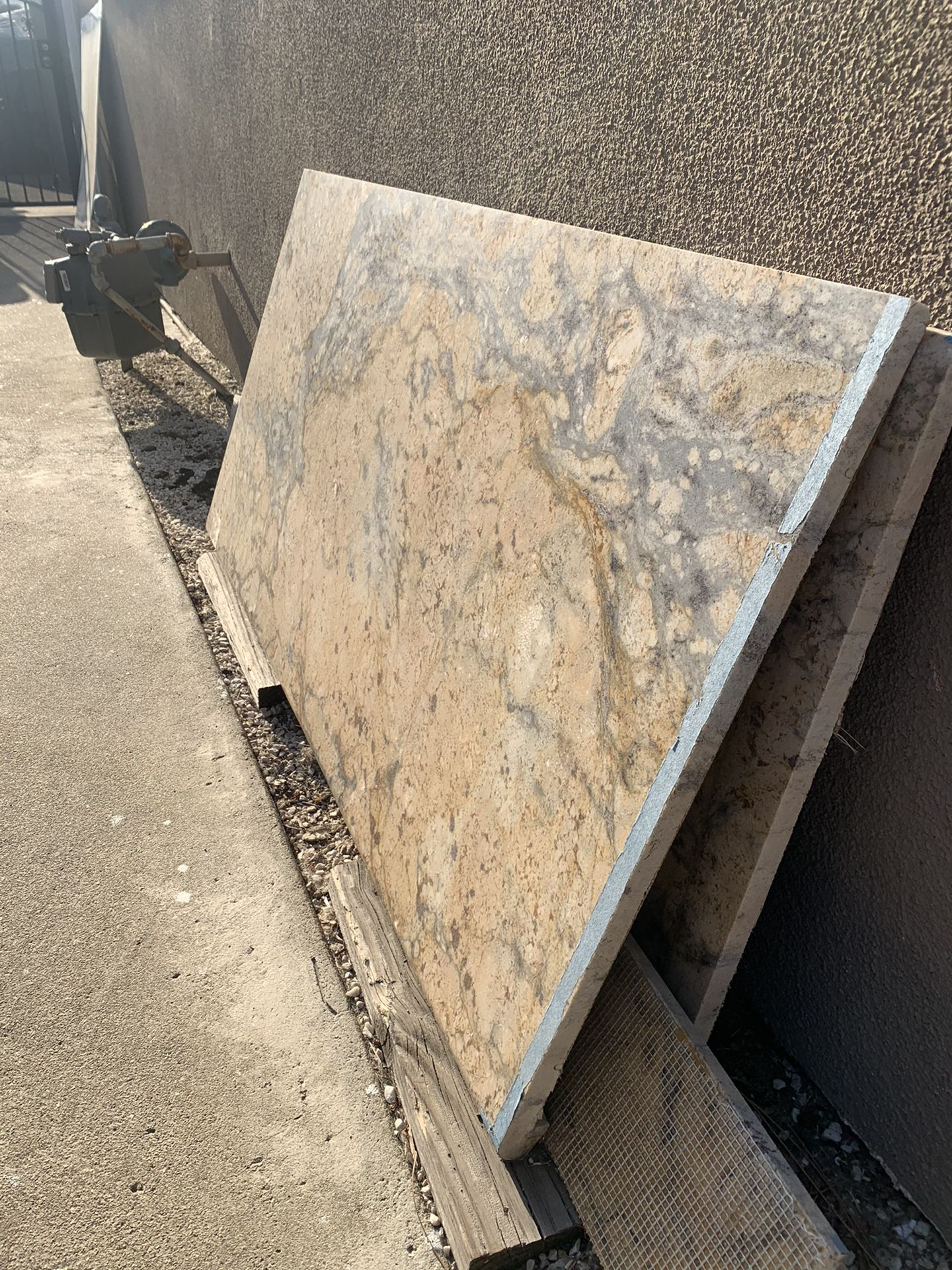 Granite bullnose countertop piece 54 X 26.5 with extra pieces
