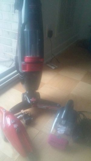 Bissell lightweight vacuum along with pet vac and Dirt Devil handheld vacuum for Sale in Alexandria, VA