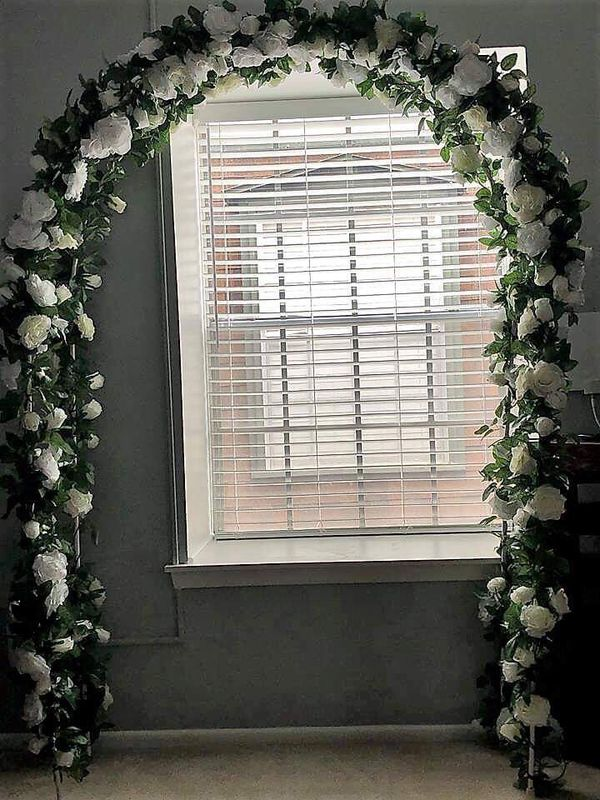 Adorox 7 5 Ft Lightweight White Metal Arch Wedding Garden Bridal