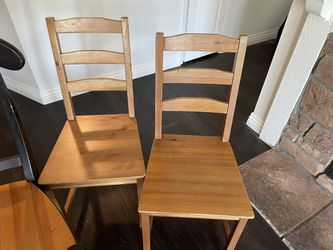 Wood Chair - Just The Middle One Thumbnail