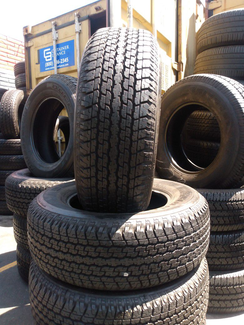 Set Of Used Tires With 95% Of Life 265/65R17 Bridgestone For Only $280 The Price Includes Mounting And Balance Out The Door
