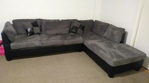 Gray/Black Sectional sofa for Sale in Washington, DC