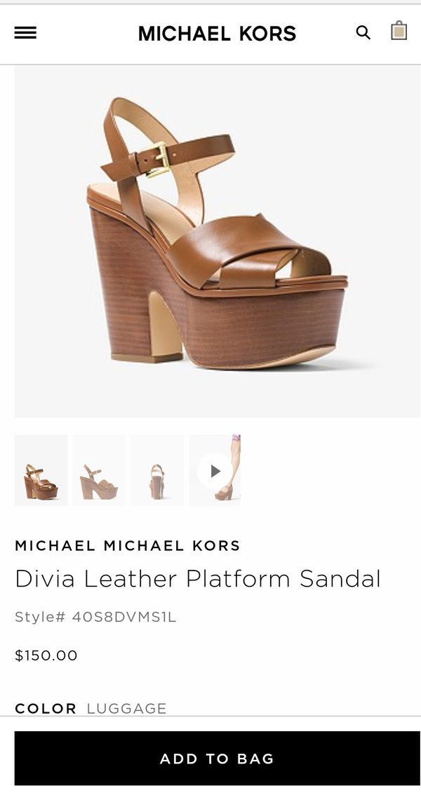 f4d577a52f62f MICHAEL KORS Divia Leather Platform Sandals for Sale in Houston