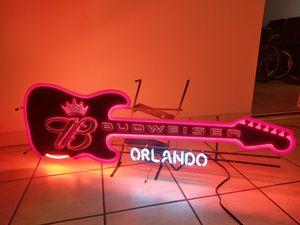 Budweiser neon guitar light for Sale in Orlando, FL