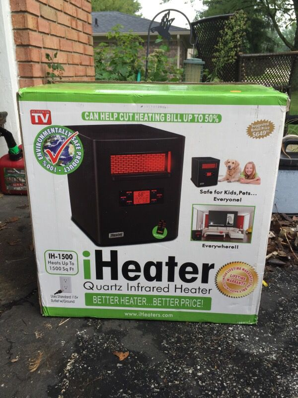 iheater infrared up to 1500 square feet for sale in whiteland in