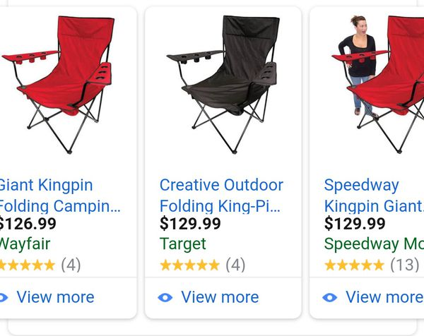 Brilliant Giant Folding Camping Chair 80 For Sale In Menifee Ca Offerup Inzonedesignstudio Interior Chair Design Inzonedesignstudiocom