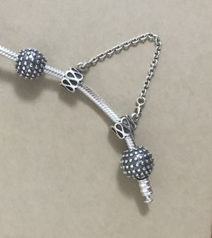 Pandora safety chain and clips for a bracelet for Sale in Rockville, MD