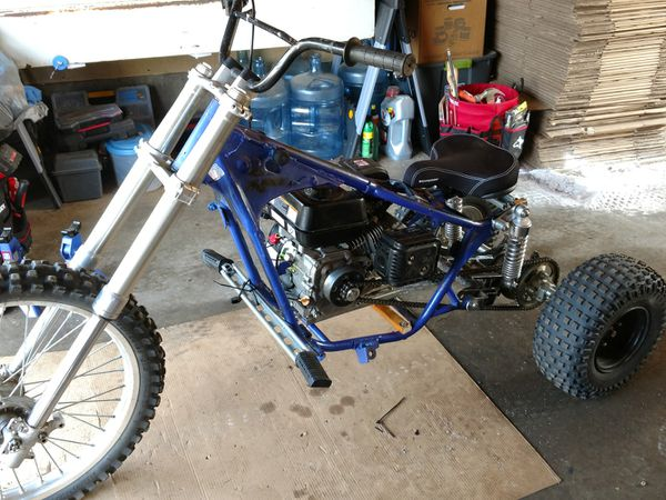 Homemade trike for sale. 6.5 HP Predator Engine. Motor Works great just don't have the time to make the trike itself perfect.
