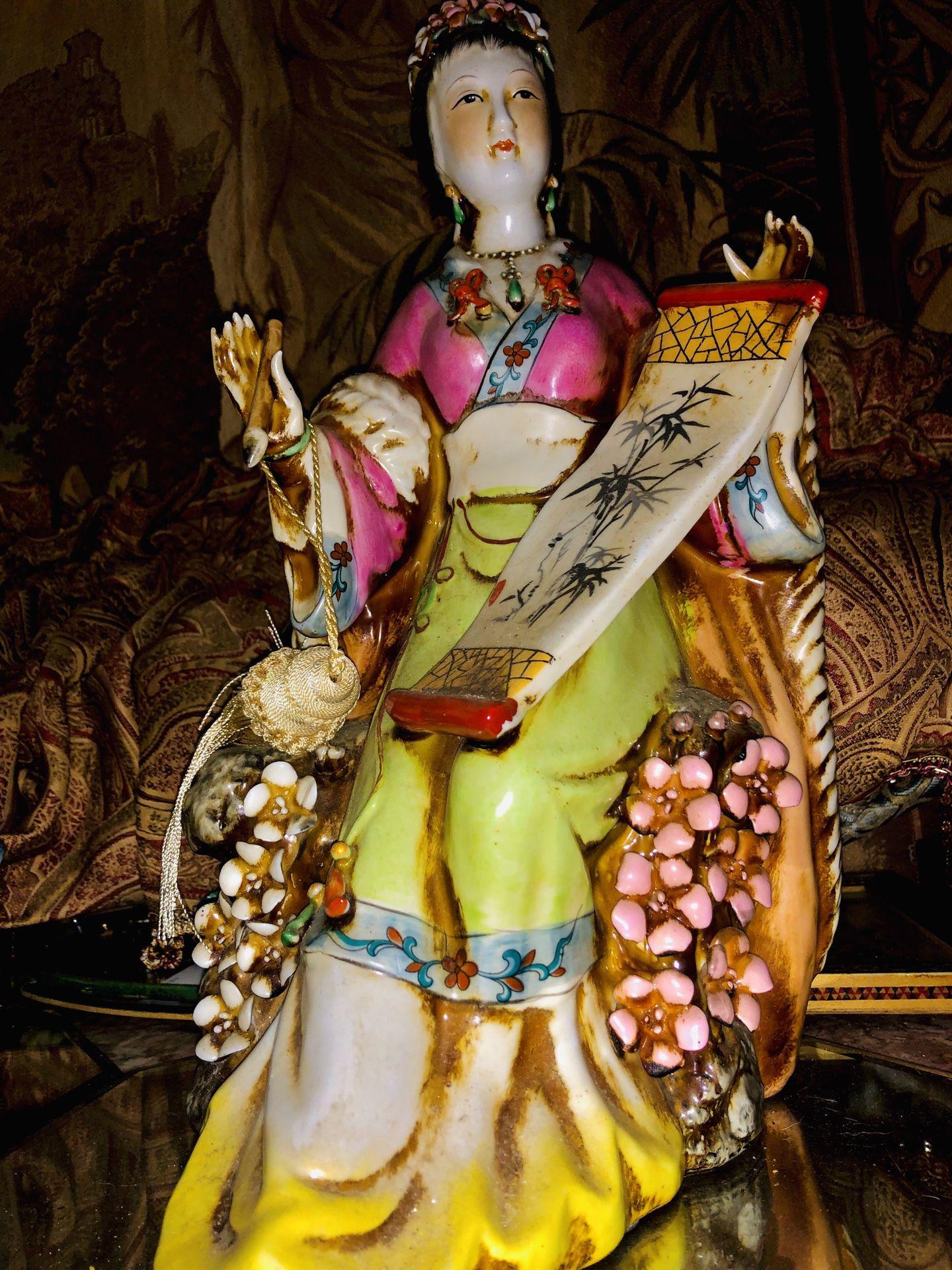 Antique Porcelain Geisha