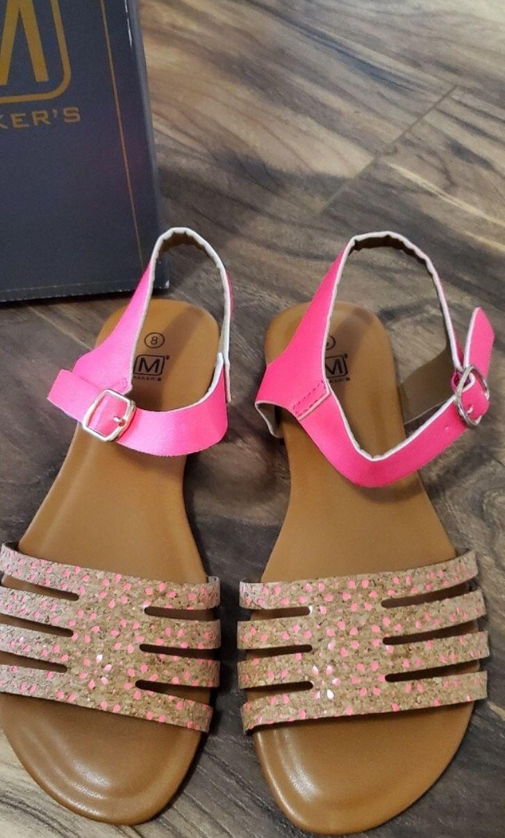 Hot pink cork Sandals