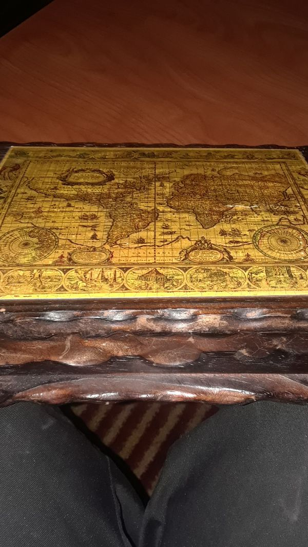 Antique Cigar With Antique Map Box For Sale In Stockton CA OfferUp - Antique map box