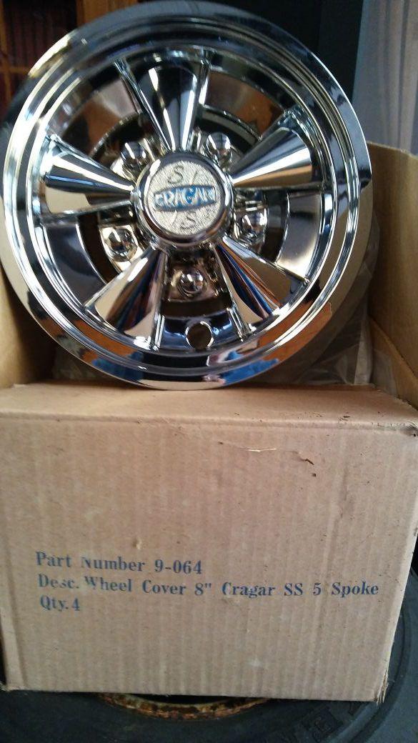cd549b1ca58 Cragar 8  Wheel Covers For Golf Cart Or Lawn Mower No Longer Rhofferup   Cragar