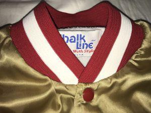 cb6c5f4c Vintage San Francisco 49ers satin gold mens Chalkline jacket coat sz Medium  NFL for Sale in San Leandro, CA - OfferUp