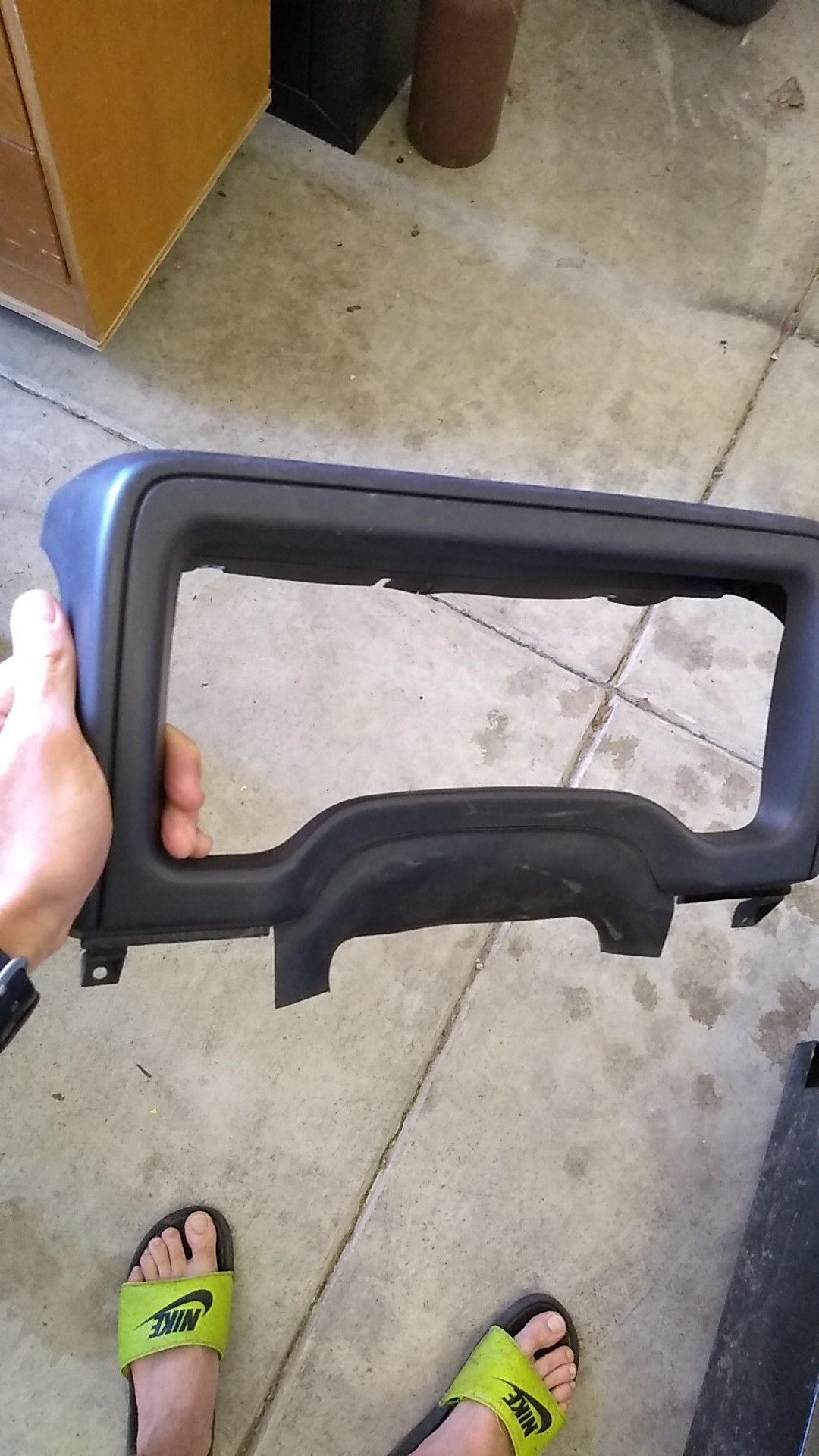 Dashboard gauge cover for TJ Jeep