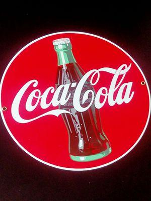 Vintage Coca Cola Decorative Hangable Sign (Porcelain) for Sale in Fairfax, VA