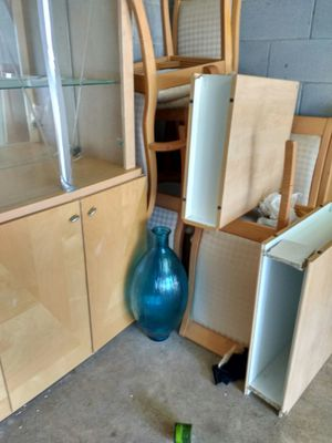 Moving out of storage Earthtone 8 piece China Cabinet Set for Sale in Glen Burnie, MD