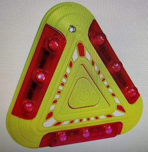 Unique holiday Christmas Hanukkah grab-bag gift idea ~ LED warning light automobile vehicle safety magnetic triangles for cars trucks SUV Etc for Sale in Lombard, IL
