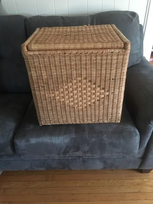 Bamboo and wicker chest for Sale in Frederick, MD