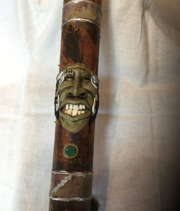 Traditional Native American Rainmaker Stick  Unique Looks like real teeth  with a gleam in his eye  for Sale in Glenview, IL - OfferUp