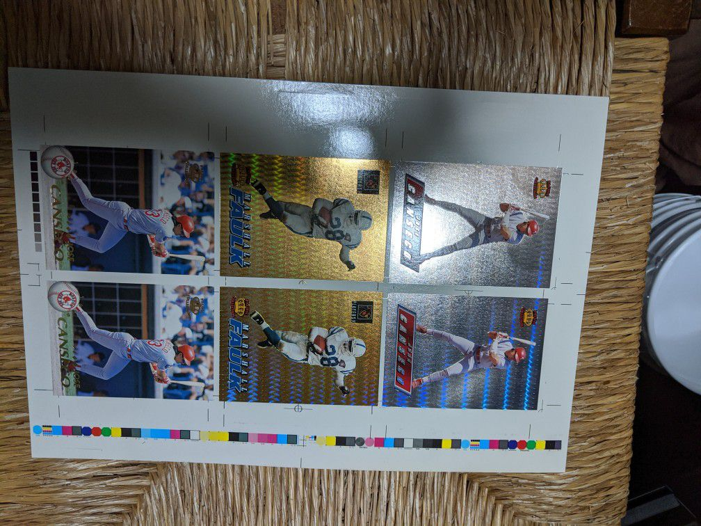 Pacific trading cards, uncut insert foil cards